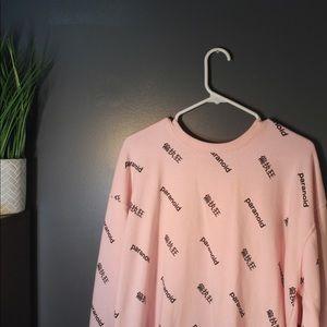 Paranoid Sweatshirt , Same Pattern 360